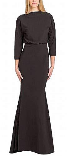 Badgley Mischka Women's Longsleeve Blouson Gown, Black, 10 (Apparel)