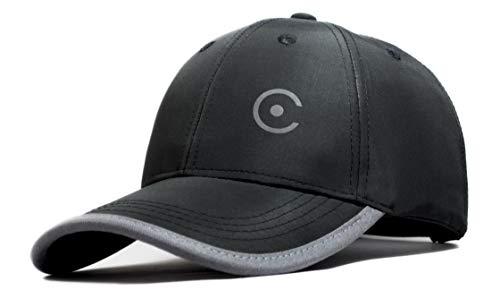 Coreteq Gorra deportiva ligera unisex resistente al agua de secado rápido con correa ajustable, Negro, talla única