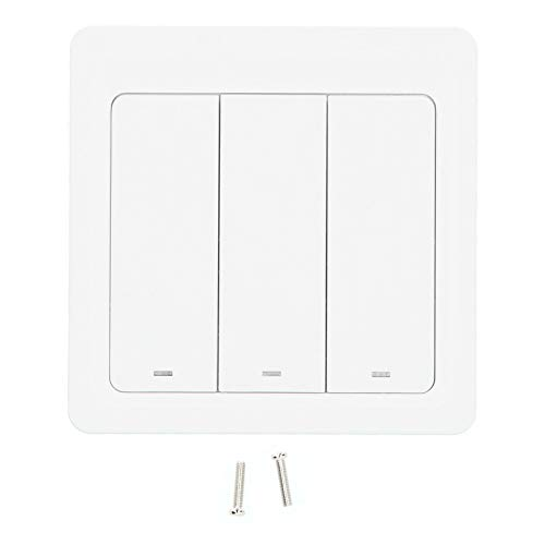 Interruptor de WiFi Inteligente, Interruptor de luz de Wi-Fi Botón pulsador Tipo de control de voz de 3 vías Temporizador Programable Horario 86 Enchufe de la UE para el hogar 100‑240VAC