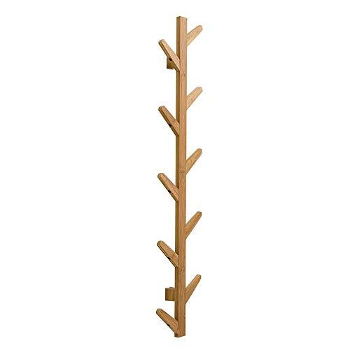 FEIFEI Porte-manteau en bois massif suspendu multifonction en forme d'arbre chambre salon cintre cadre décoratif de la mode simple, 3 tailles (taille : 7 * 23 * 123cm)
