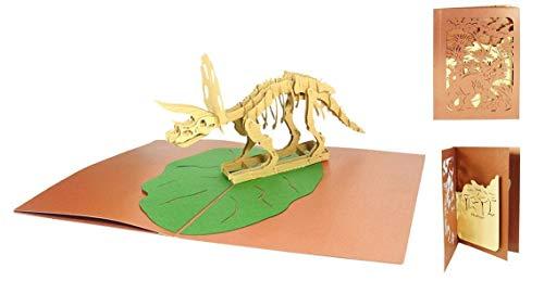Pop Up Karte 3D Dino Geburtstagskarte Dinosaurier Glückwunschkarte Geburtstag Gutschein Zoo Museum - Dinosaurier 017