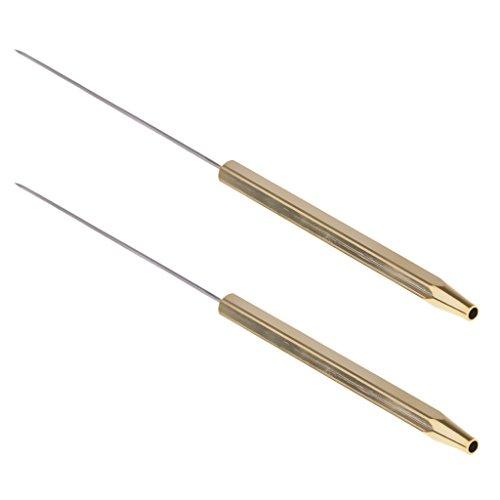 sharprepublic 2 Stück Fliegenbinden Bodkins Half Hitch Tools Griff Fliegenbinden Dubbing Needle 12cm