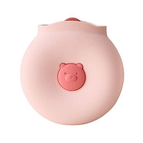 Bolsa para Agua Caliente,Posibilidad de Calentamiento por Microondas Hot Water Bottle Perfecto para Noches Frias de Invierno(Rosado)