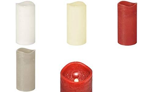 Papstar 85349 Bougie pilier LED, hauteur : 150 mm, blanc