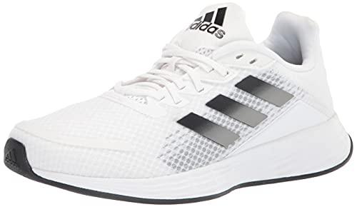 adidas Men's Duramo SL Trail Running Shoe, White/Black/Grey, 10