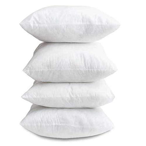 Linen Empire Ltd Superior 4 Pack - Cushion Pads -18'x 18' (45cm x 45cm) - Bounce Back - Plump HollowFibre - Made in Britain UK