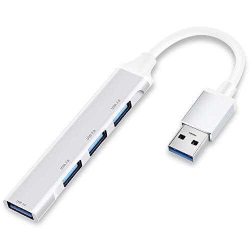 【Mini超小型・4ポートハブ 】USB3.0hub ps4 USBハブ usbポートバスパワー usb 拡張ポート mac usbハブ ps4 usbはぶ ウルトラスリム 軽量コンパクト MacBook / iMac / Surface Pro 等 ノートPC 他対応 USBハブ テレワーク リモート 在宅勤務