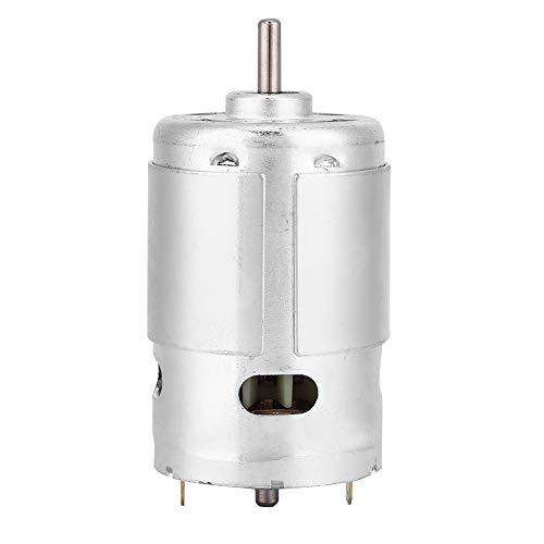 Motorreductor DC 12V 3000 RPM micro motor DC doble rodamiento bolas alta potencia y alto torque Fresadora Motor sin escobillas para máquinas de corte, tornos, fresado, taladro de banco, etc