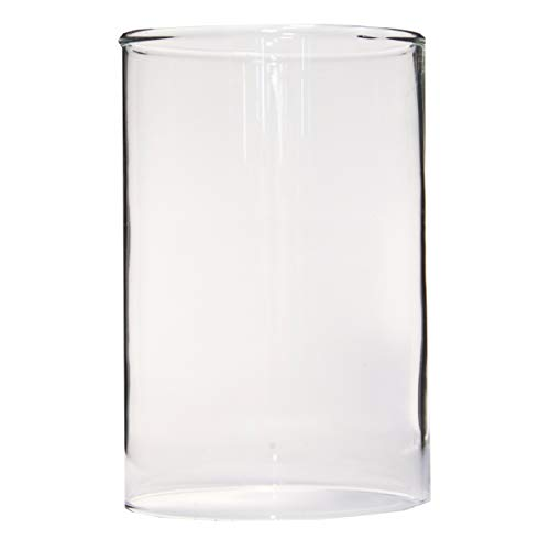 Varia Living Glass cylinder round bottomless for replacement in different sizes open ended for Hurricane, Candleholder or Lantern   Tube for candle   without base