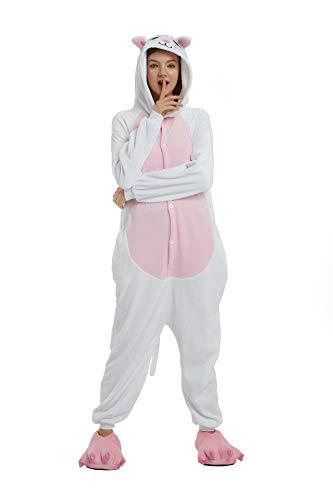 Kauson Mapache Kigurumi Flanela Gato Pijamas la Ropa de Noche del Traje Onesie 3D Novedad Panda Cartoon Animal Cosplay Disfraces Mascotas Carnaval Halloween Navidad Ropa especializada para Adultos