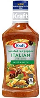 Kraft Italian Roasted Red Pepper Dressing, Sweet & Rustic, 16 Oz. (Pack of 4)