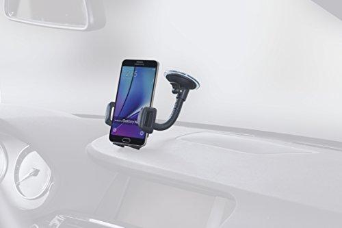hr-imotion Universal Schwanenhals Halterungslösung für alle Smartphones zwischen 56mm & 85mm Breite [5 Jahre Garantie | Made in Germany | vibrationsfrei] - 22010501