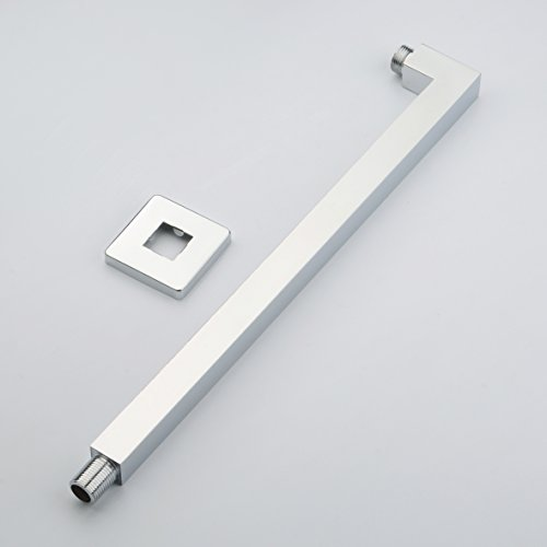 Hiendure® 40cm Wandmontage eckig Duscharm Quadrus - Brausearm Wandarm Dusche