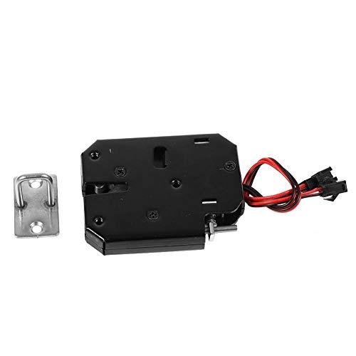 Elektrisch slot DC 12V 2A Elektromagnetische elektrische schakelkast Ladekasten Lock-vergrendeling Staal voor kast, lade, lockers, zwart Zwart