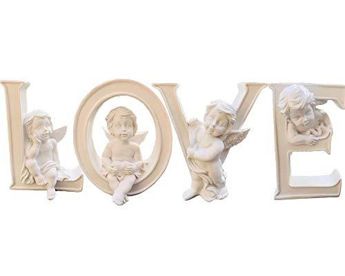 Set 4 Angel Figurines Cherub Figurine Statue Collectible Heart&Love Angel Figurines Home Wedding Centerpiece,Valentine's Day décor