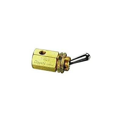 Clippard TV-2S 2-Way Toggle Valve, N-C, Enp Steel Toggle, 10-32, 8.0 SCFM At100 PSIG from Clippard