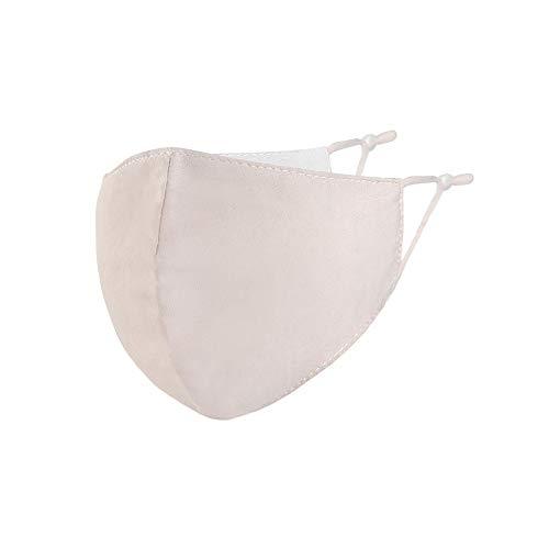 Null Karat Kinder Mund-Nasen-Maske für Mädchen und Jungen, Kids Behelfsmaske Kids 100% Baumwolle Farbe Beige