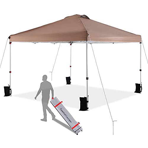 10 x 10 Pop-up Canopy Tent, Commercial Instant Outdoor Beach Canopy Sun...