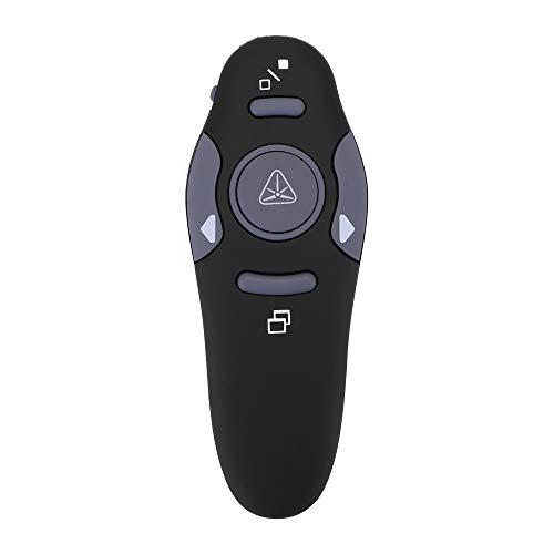 Youool Presentador inalámbrico, Lápiz profesional USB RF Control remoto PPT Flip Pen Lápiz puntero láser rojo, para presentación de conferencias