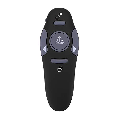 Donpow Puntero de presentador inalámbrico, RF 2.4GHz USB Presentación de PowerPoint Clicker PPT Puntero de control remoto Slide Advancer con 33 pies de largo alcance
