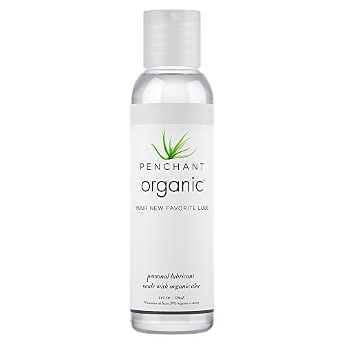 Organic Lubricant for Sensitive Skin by Penchant - Aloe Based, Discreet Label - Best Personal Lube for Women and Men – Lubrication Gel Without Parabens or Glycerin 4oz