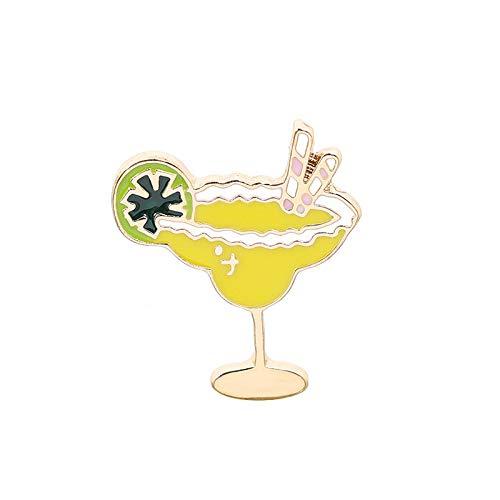 MKOIJN Broche Hartvormige Bril Broche Sinaasappelsap Beker Denim Tas Badge Pin Kleding Shirt Dames Broche, Gebruikt Voor Verjaardagsfeestje Diy Crafts
