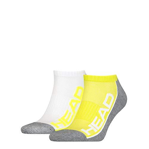 HEAD Unisex-Adult Performance Sneaker – Trainer (2 Pack) Socks, Lime, 43/46