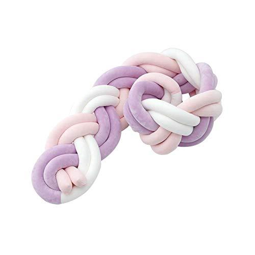 LUUDE Intrecciato Handmade Wiege Stoßstange Baby Stoßstange Knot Braid Stoßdämpfer Kissen Dekokissen für Neugeborene Bed Sonno Bumper,Style11,3m
