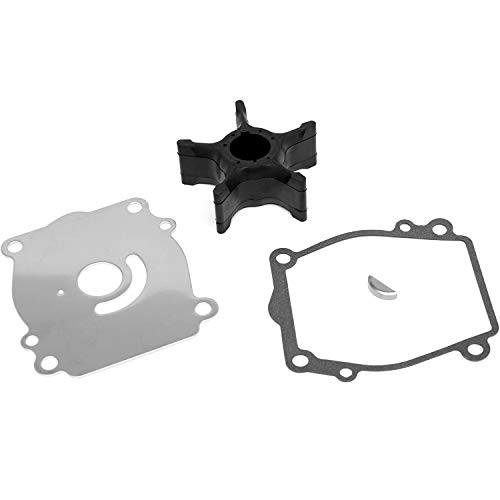 Wingogo 17400-87D10 Water Pump Impeller Repair Kit for 150/175/200/225 HP Suzuki Outboards V6 DT150 DT175 DT200 DT225 Boat Motor Parts Replacement 17400-87D11 2-Stroke