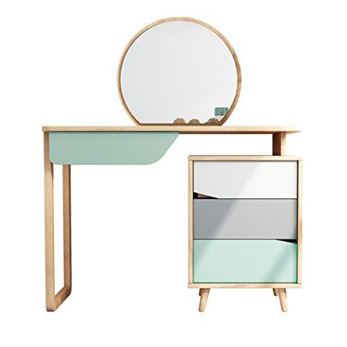 ACD Tocador y tocador con Espejo Tocador Mesa,Tocadores con Taburete Y Espejo Mesa De Maquillaje Brillante (Color : Table)
