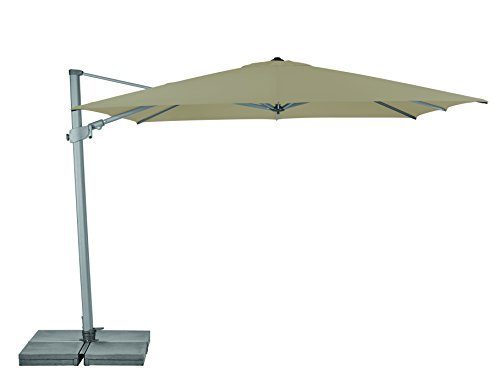 Suncomfort by Glatz Varioflex, off-grey, 300x300 cm quadratisch, Gestell Aluminium, Bespannung Polyester, 30 kg