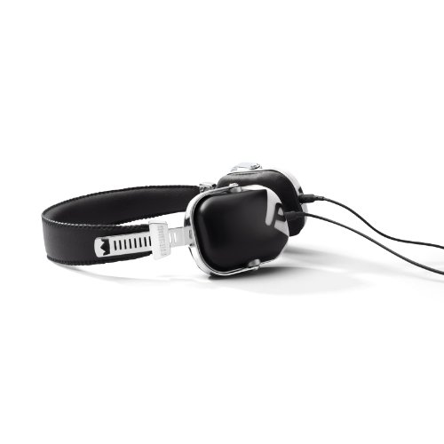 Frends The Lights - Auriculares de diadema con mando y micrófono, color blanco y negro