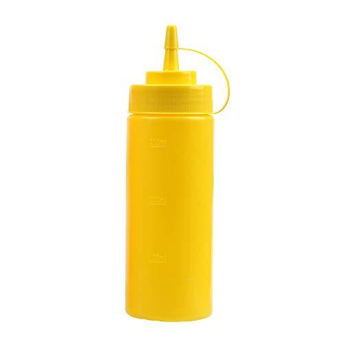 iTimo Plastic Squeeze - Botella con dispensador de aceite de salsa y ketchup, color rojo, amarillo, 12 Unze