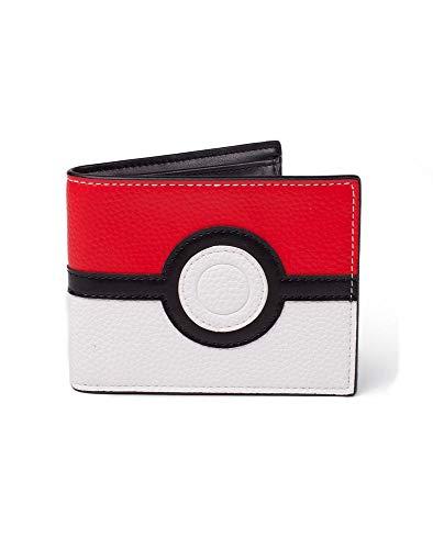 PoKéMoN Portefeuille Homme Pokemon-Pokeball 2 Volets Rouge, Noir et Blanc, Standard