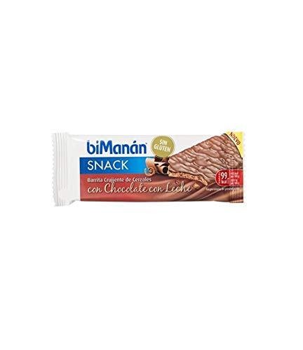 Bimanan – Riegel ohne Gluten, Schokolade mit Milch. 5 Stück BIMANAN 3175681288058
