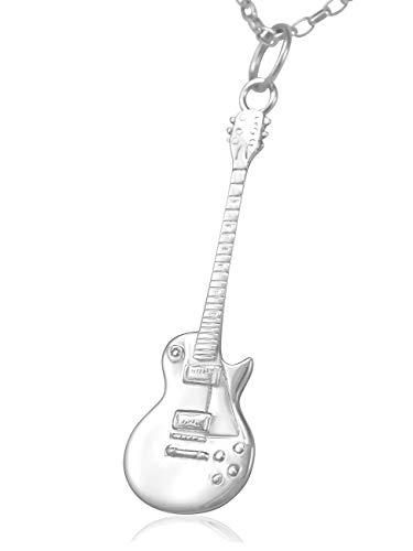 Colgante de guitarra eléctrica Gibson Les Paul de plata de