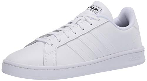 adidas Men's Grand Court Sneaker, FTWR White/core Black, 10.5 M US