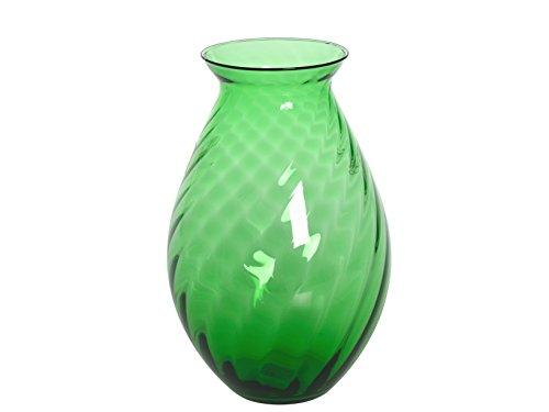 HOME Vase Hélices H cm25 Vert Jardin ameublement d'extérieur