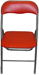 Lot de 4 chaises pliantes Spoon Rouge