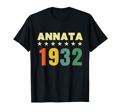 89 anni compleanno Maglietta Annata 1932 Maglietta