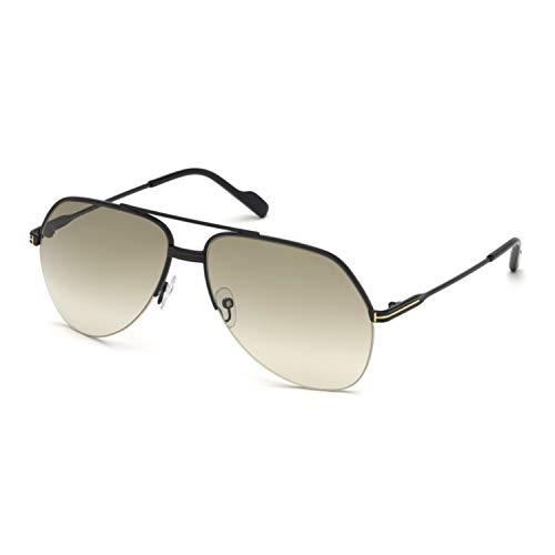 Tom Ford Unisex-Erwachsene FT0644 01A 62 Sonnenbrille, Schwarz (Nero Lucido/Fumo)