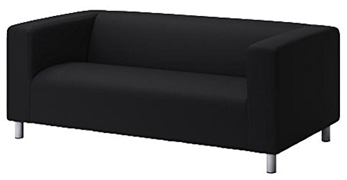The Klippan Loveseat Cover Replacement is Custom Made for IKEA Klippan Loveseat Slipcover, A Sofa Cover Replacement. Cover Only! (Flax Black)