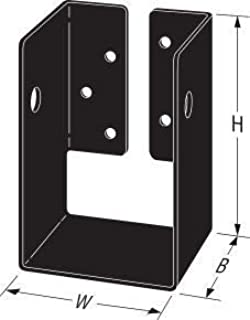 Simpson Strong-Tie APHH46 Outdoor Accents Concealed Flange Heavy Joist Hanger Powder Coated Black (Actual Dimensions 3-9/16