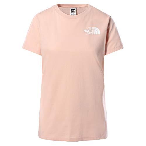 The North Face Camiseta de Manga Corta Half Dome para Mujer, Rosa, M