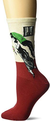Hot Sox Damen Socken, Artist Series Crew Socks, rot, HC000311