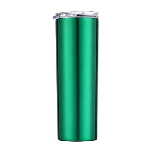 Xiaobing Vaso para Beber Recto de Acero Inoxidable de 20 oz para Oficina de automóviles, Vaso Recto para Beber -B655-500ml-G768