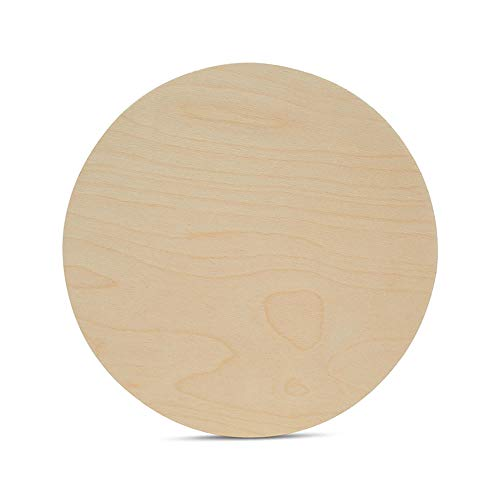 Wood Plywood Circles 13 inch, 1/4 Inch Thick, Round Wood Cutouts, Pack of 3 Baltic Birch Unfinished Wood Plywood Circles for Crafts, by Woodpeckers