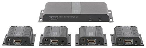Digitus Professional HDMI Extender/Splitter - 4 ontvangers zwart