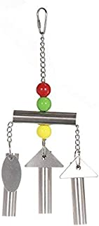 Hypeety Stainless Bells String Toy for Bird Parrot Macaw African Greys Amazon Eclectus Cockatoo Parakeet Cockatiels Birds ...