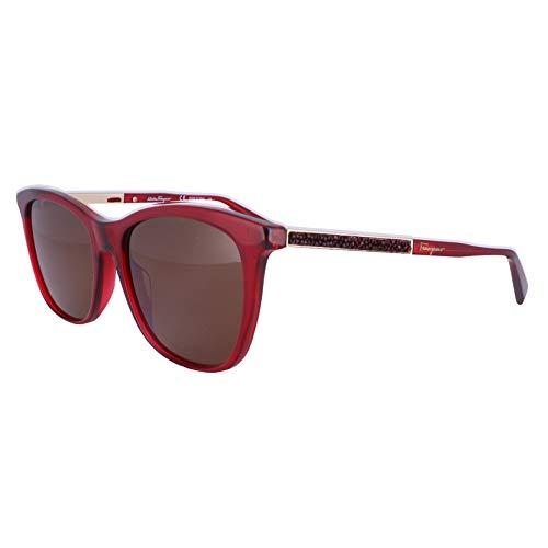 Ferragamo SF888SR, Gafas de Sol Acetate Crystal Red Unisex Adulto, Multicolor, Talla única